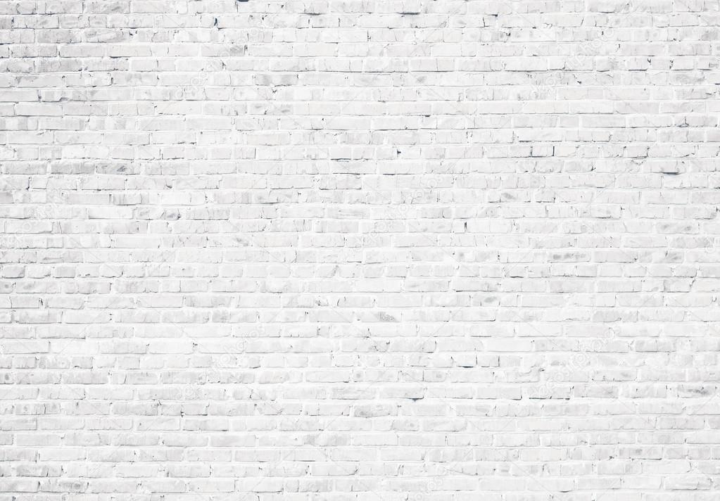 fundo de parede de tijolo branco grunge — Fotografias de