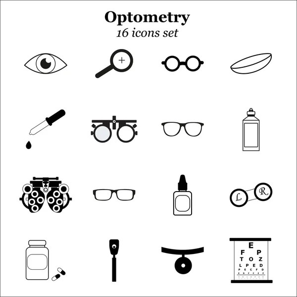 Optician eye test cartoon — Stock Vector © gcpics #6884570