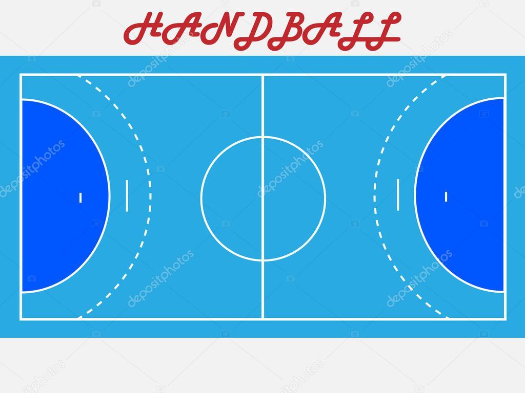 handball court diagram 277 volt lighting wiring cancha de balonmano  vector stock savi88 65381149