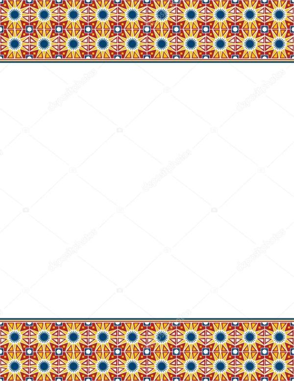 Abstract Islamic border design Stock Vector 169 mrhighsky