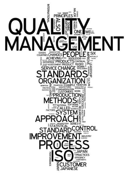 Word Cloud Quality Management — Stock Photo © mindscanner