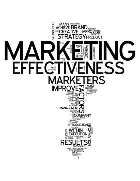 Word Cloud Marketing Effectiveness — Stock Photo
