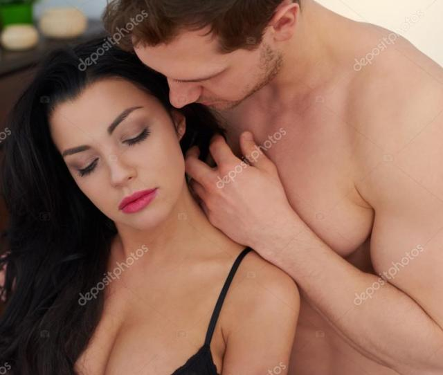 Sensual Foreplay Of Young Couple Stock Photo