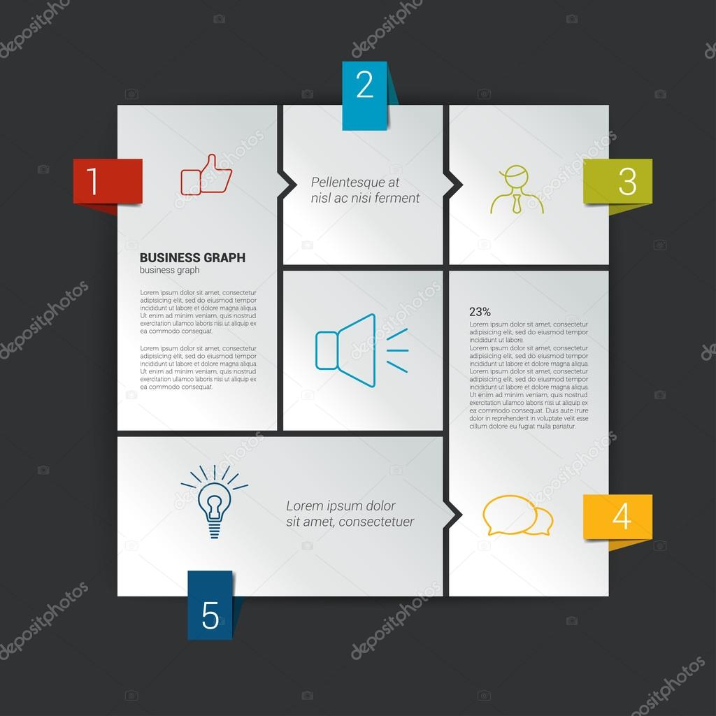hight resolution of diagramma di box per il infographics modello del diagramma di web schema di vettore