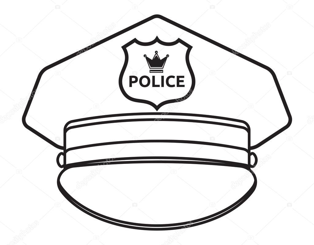 Police cap — Stock Vector © branchecarica #84107598
