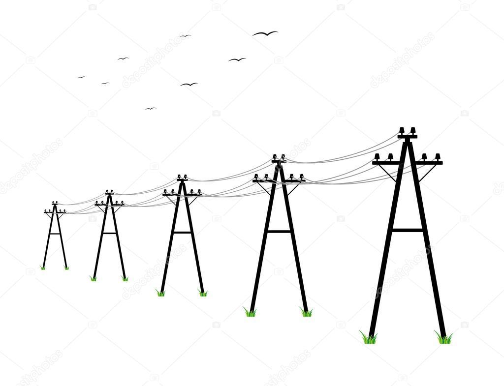 vedení vysokého napětí — Stock Vektor © muuraa #75289259