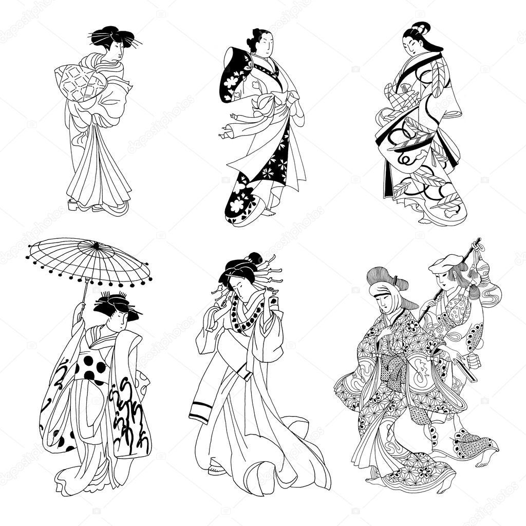 Japanese Women Drawings