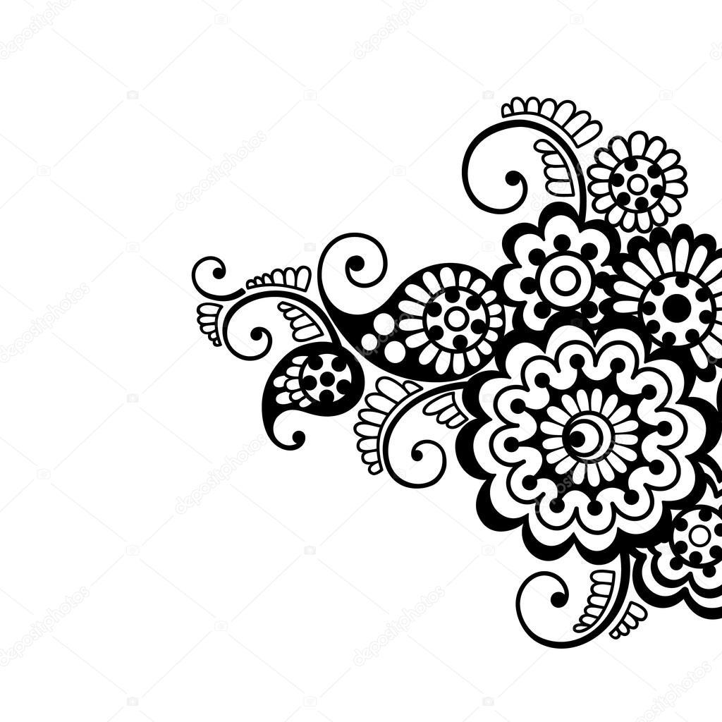 Flower vector ornament background — Stock Vector © iktash2