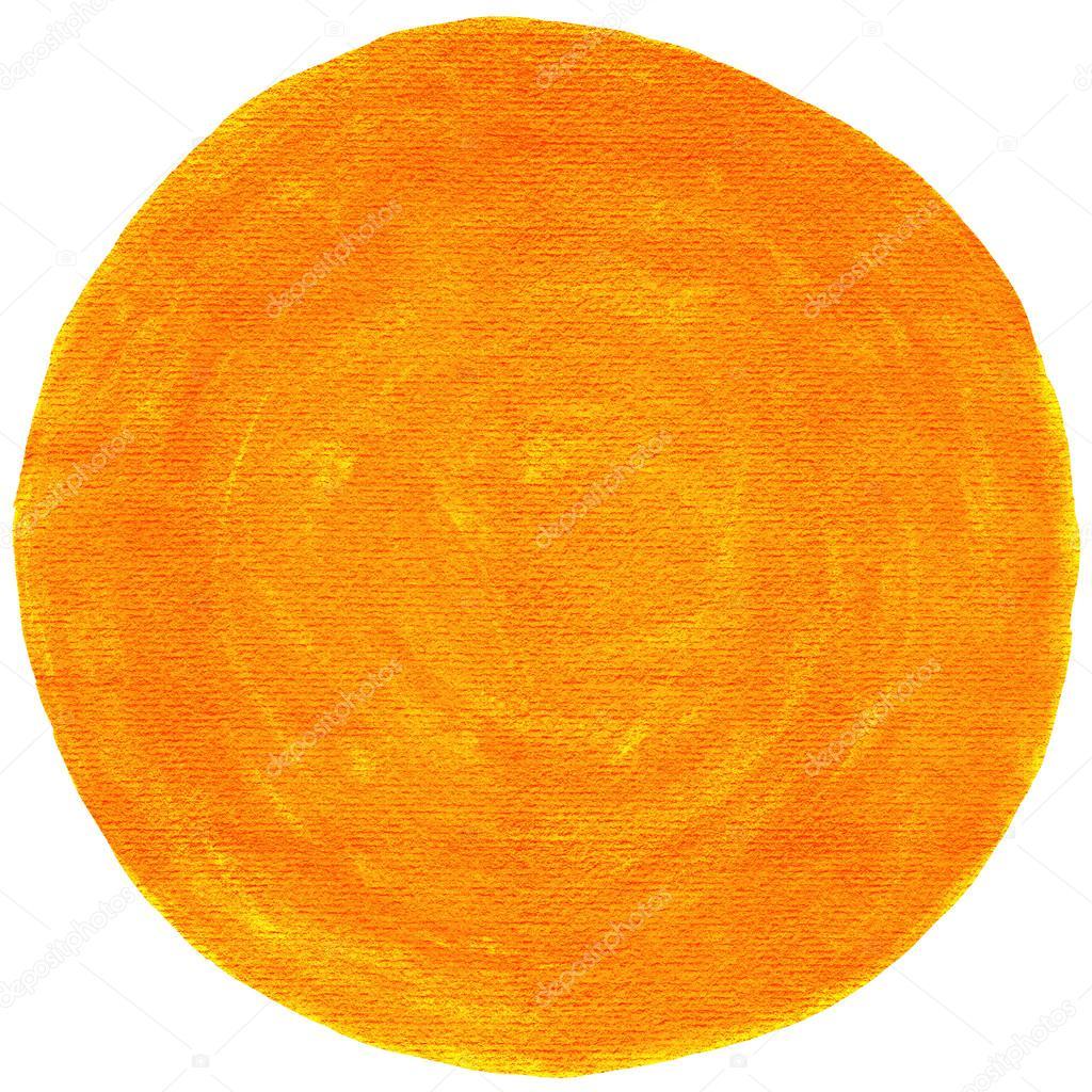 Orange Blank Watercolor Round Shape