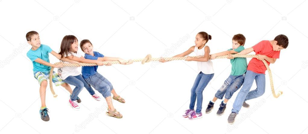 Imgenes la cuerda  juego de la cuerda  Foto de stock