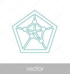 geometry power graph spider web diagram concept flat style design illustration icon vecteur par mr graphic designer [ 1024 x 1024 Pixel ]