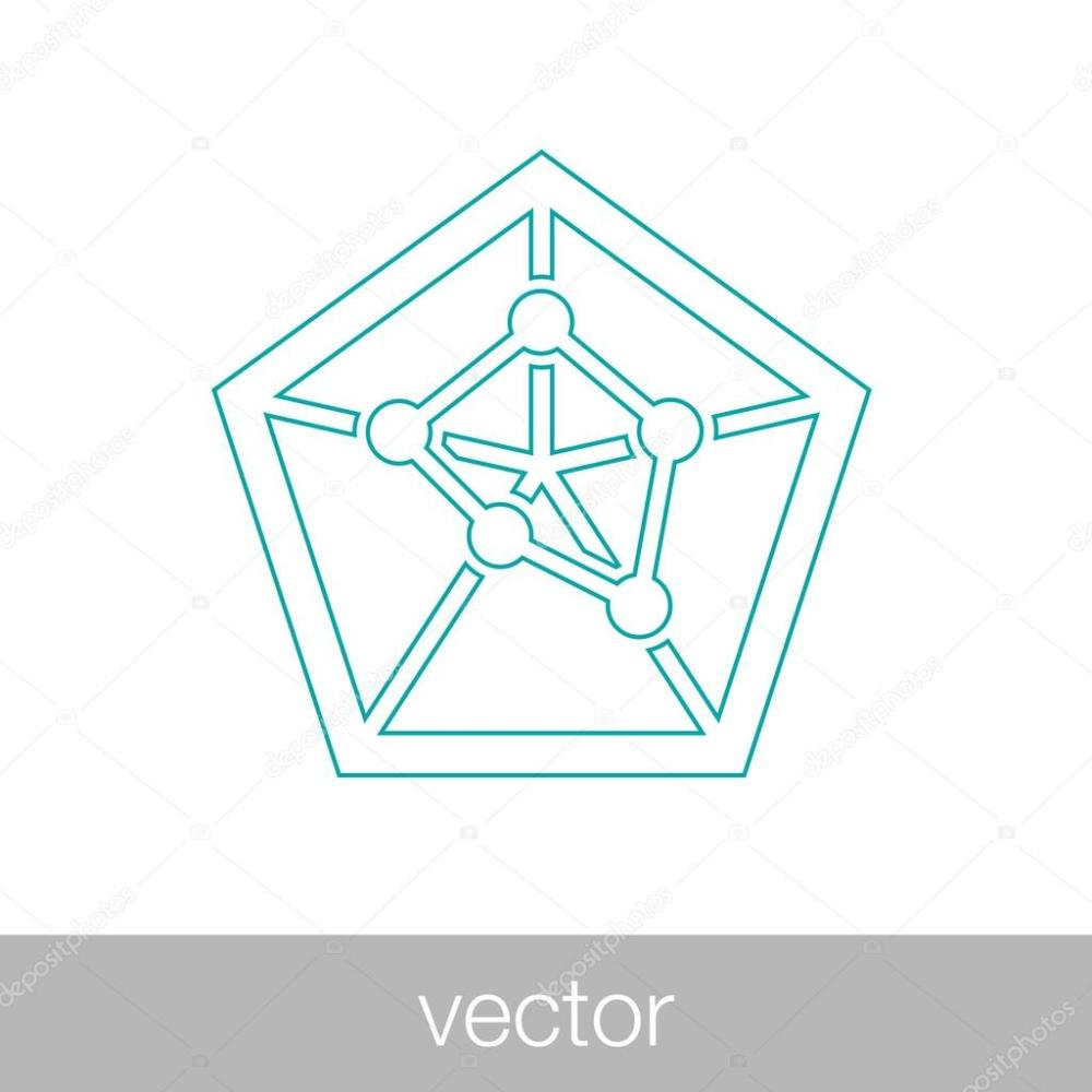medium resolution of geometry power graph spider web diagram concept flat style design illustration icon vecteur par mr graphic designer