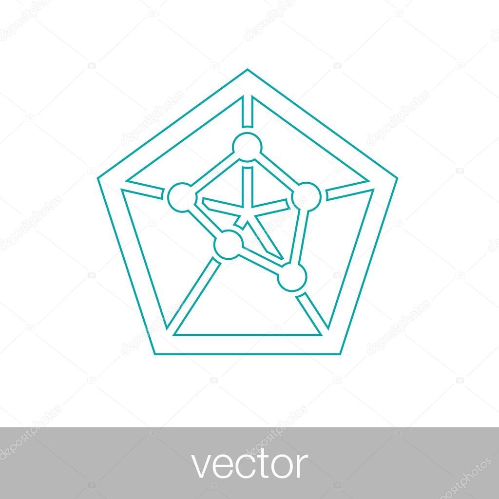 hight resolution of geometry power graph spider web diagram concept flat style design illustration icon vecteur par mr graphic designer