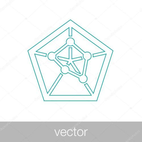 small resolution of geometry power graph spider web diagram concept flat style design illustration icon vecteur par mr graphic designer