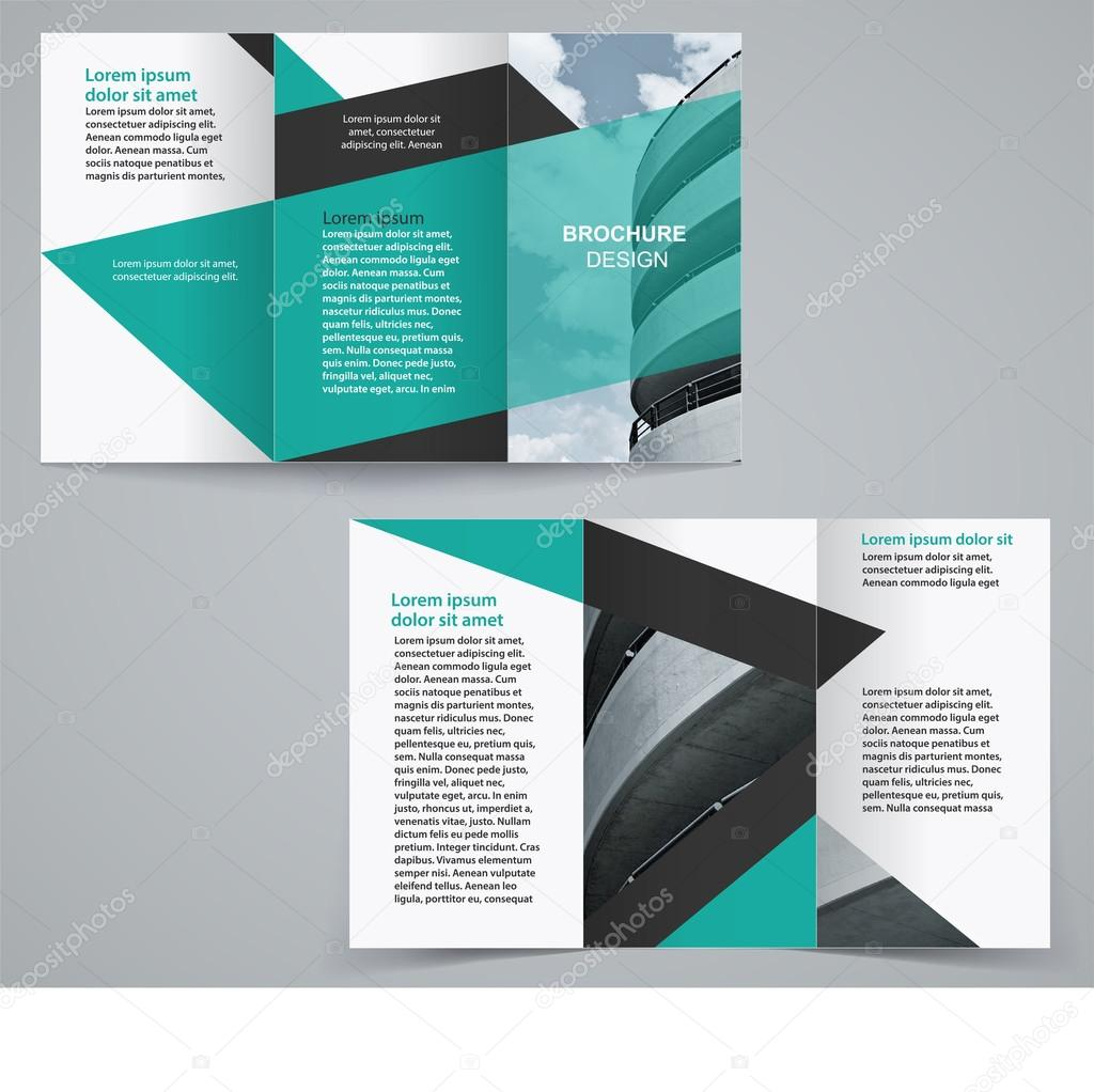 Tri Fold Business Brochure Template Two Sided Template Design In