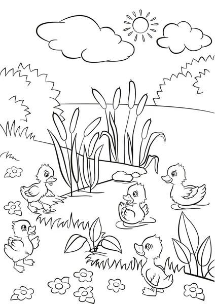 grupo de animais de fazenda dos desenhos animados para