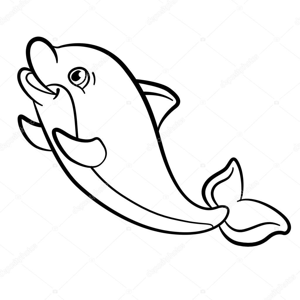 Foto: delfini da colorare. Disegni da colorare. Animali