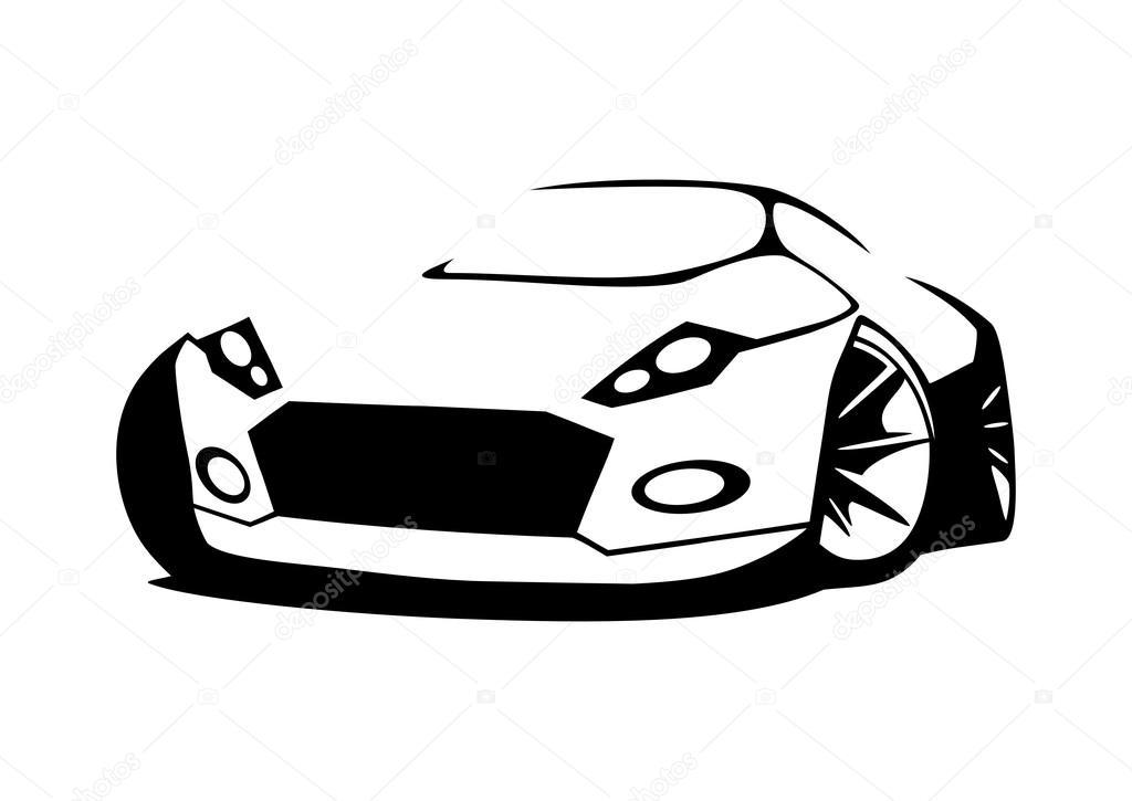 Vector silueta coche de los deportes — Vector de stock