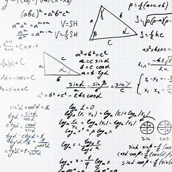 Black equation shaded background. — Stock Photo © Leonardi