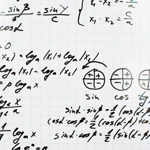 Math notes. — Stock Vector © JohanH #80128426