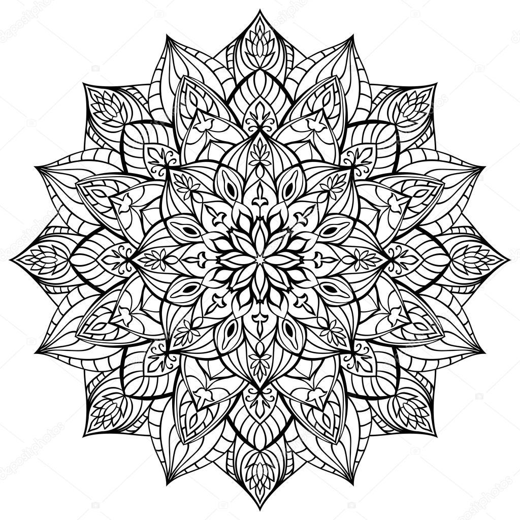 Geometric vector mandala. — Stock Vector © matorinni #82315512
