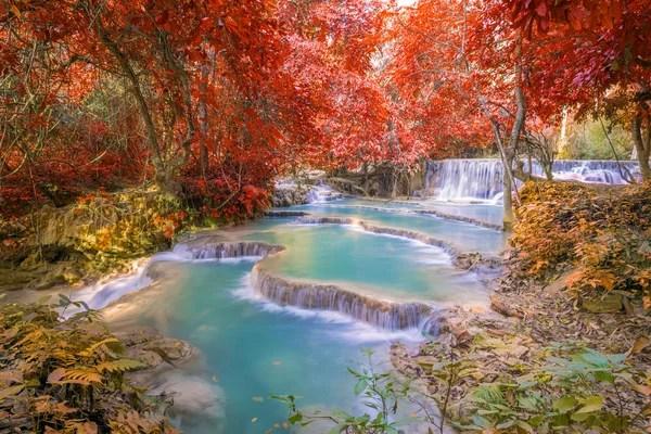 Kuang Si Falls Hd Wallpaper 캐스케이드 가든 밴프 국립공원 스톡 사진 169 Jewhyte 52492109
