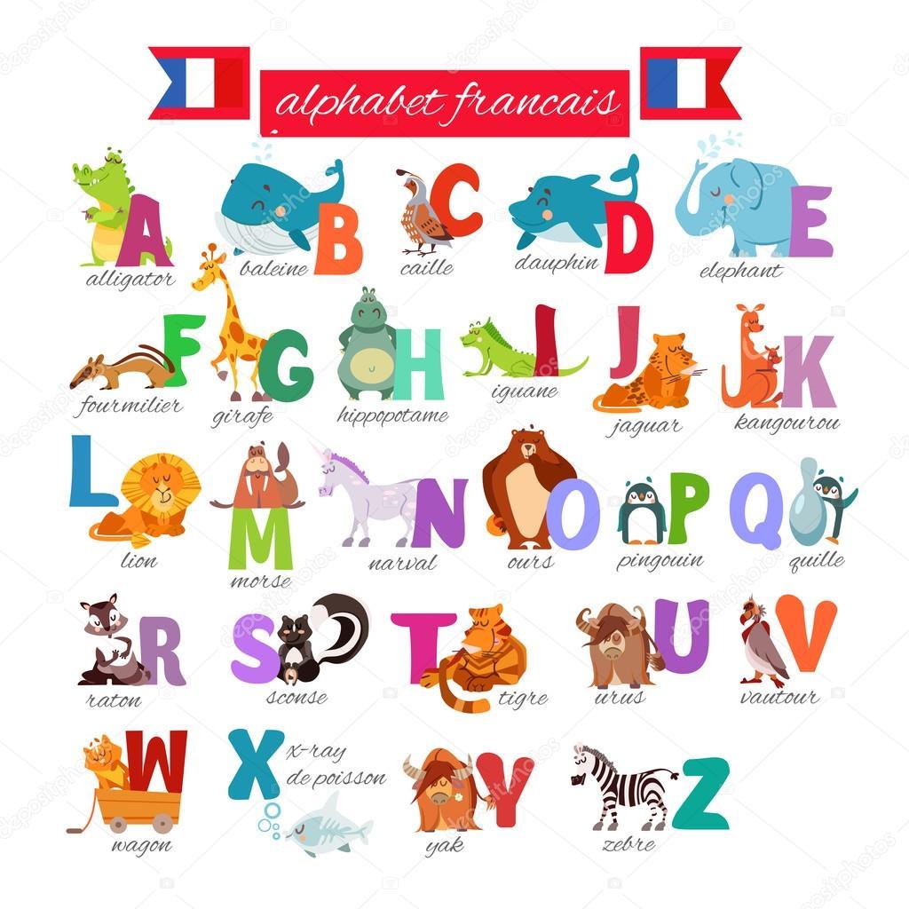 Alfabeto Ilustrado Frances Con Animales