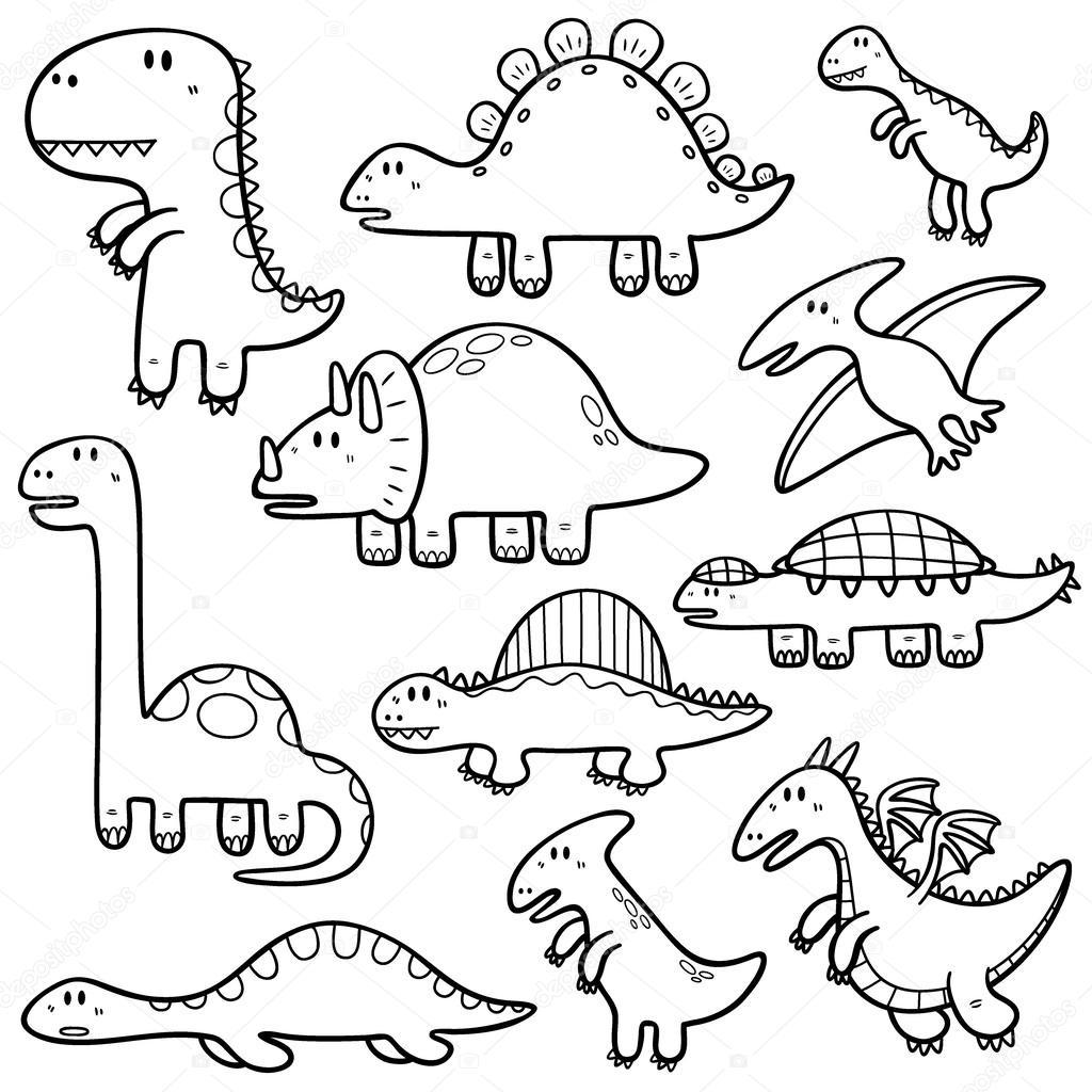 恐龍著色空白圖片|圖片- 恐龍著色空白圖片|圖片 - 快熱資訊 - 走進時代