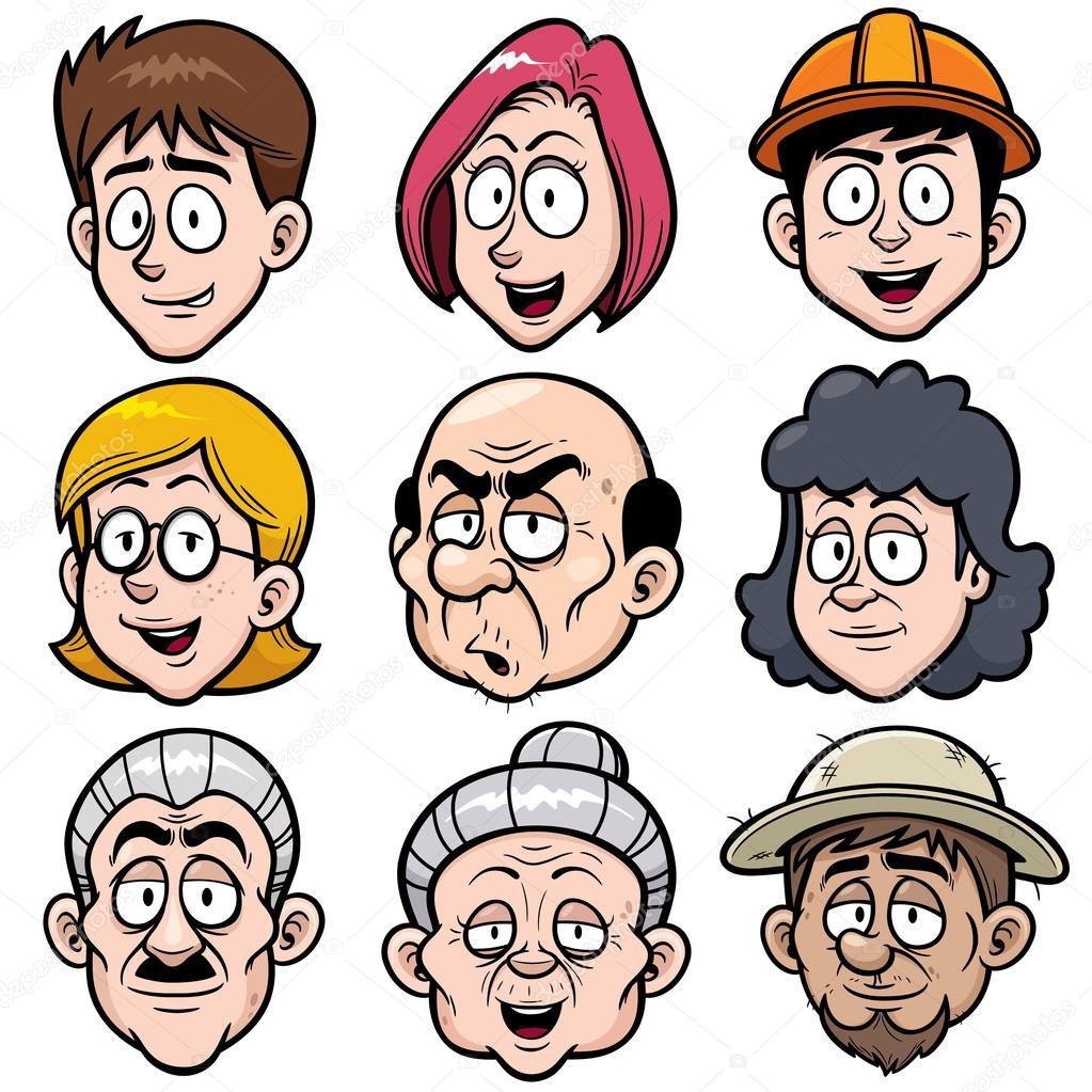 cartoon face stock vector