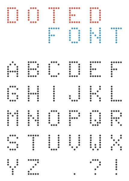 Vector alfabetet och siffrorna i små cirklar — Stock