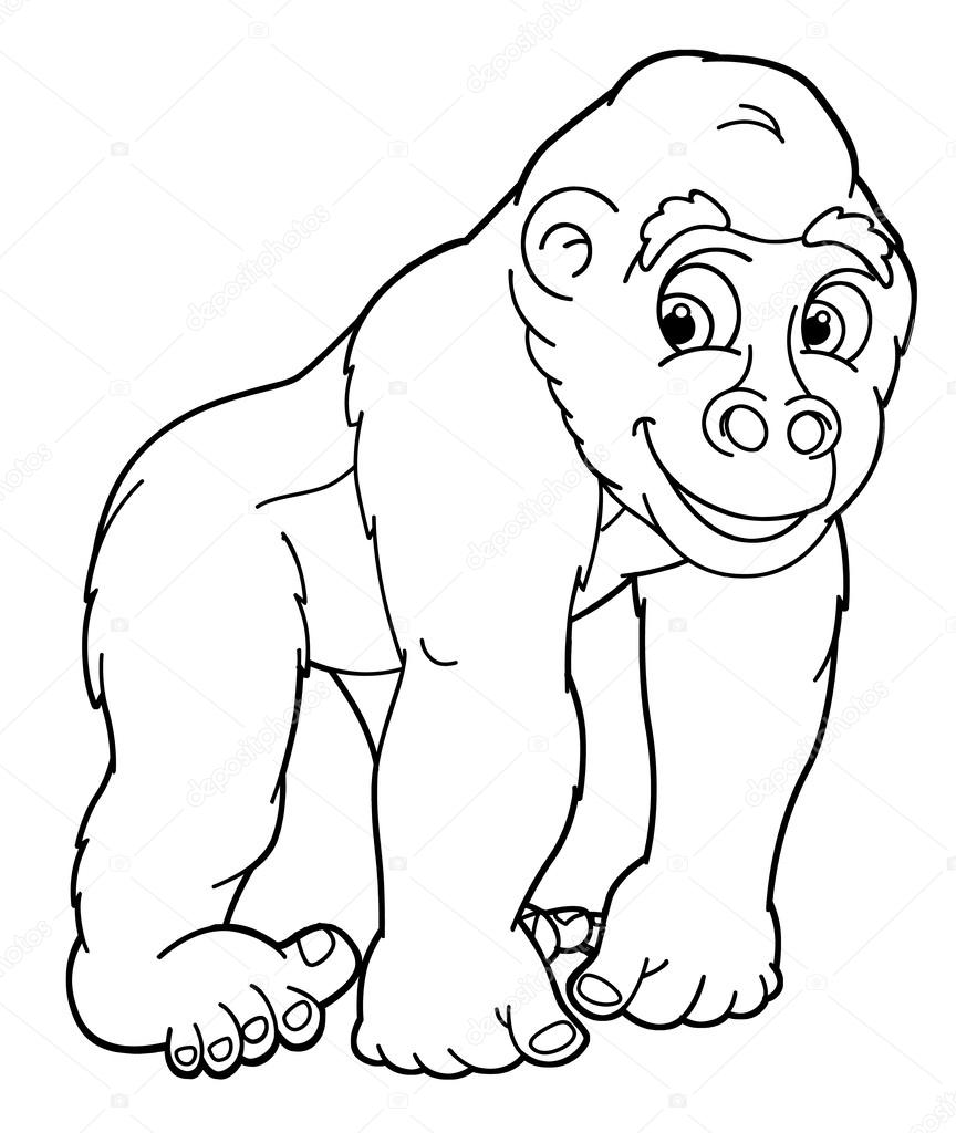 Silverback Gorilla Pages Coloring Pages