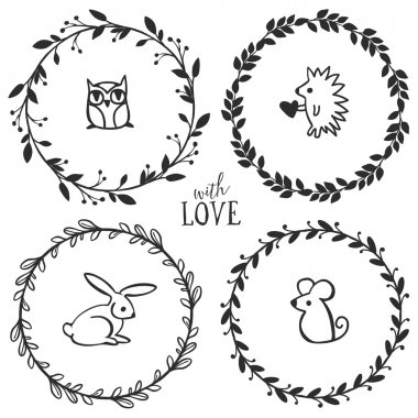 drawn wreath premium vector download for commercial use