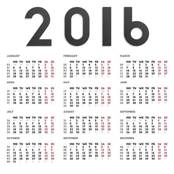 Year 2018 2019 calendar vector — Stock Vector