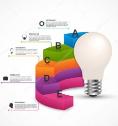 infographics for business presentations or information booklet idea light bulb with a diagram vector [ 1023 x 950 Pixel ]