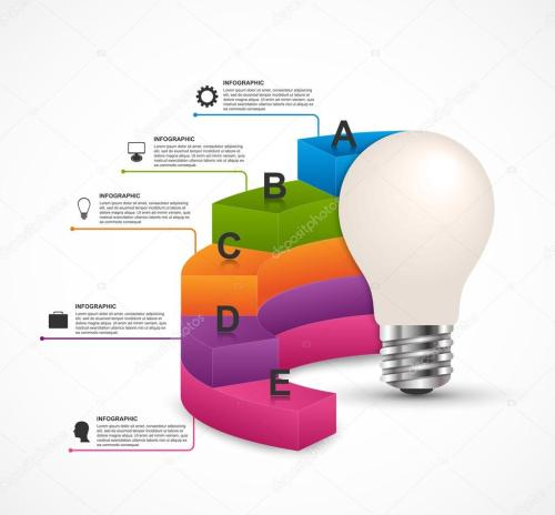 small resolution of infographics for business presentations or information booklet idea light bulb with a diagram vector