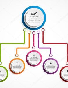 Infographic design organization chart template  stock vector also rh depositphotos