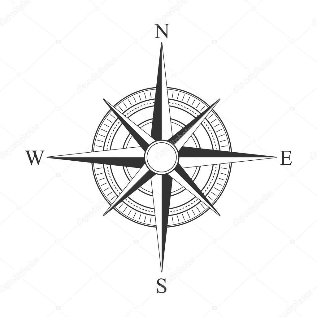 Iconos Brujulas Vector Negro