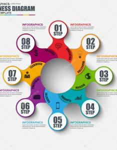 Infographic cycle diagram vector design template can be used for workflow layout business process also rh depositphotos