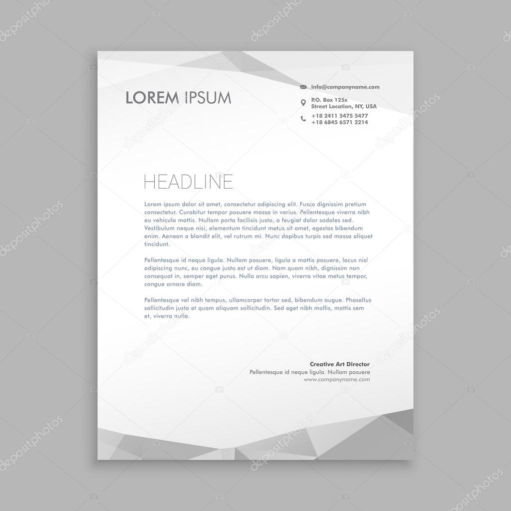 Hlavičkový Papír Stylový Moderní Design — Stock Vektor