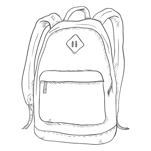 Sketch Casual Backpack — Stock Vector © nikiteev #110869960