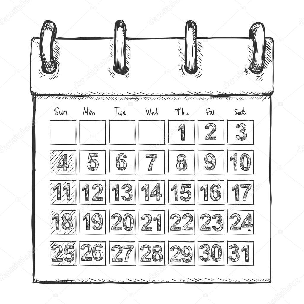 Cartoon Calendar — Stock Vector © nikiteev #61761383