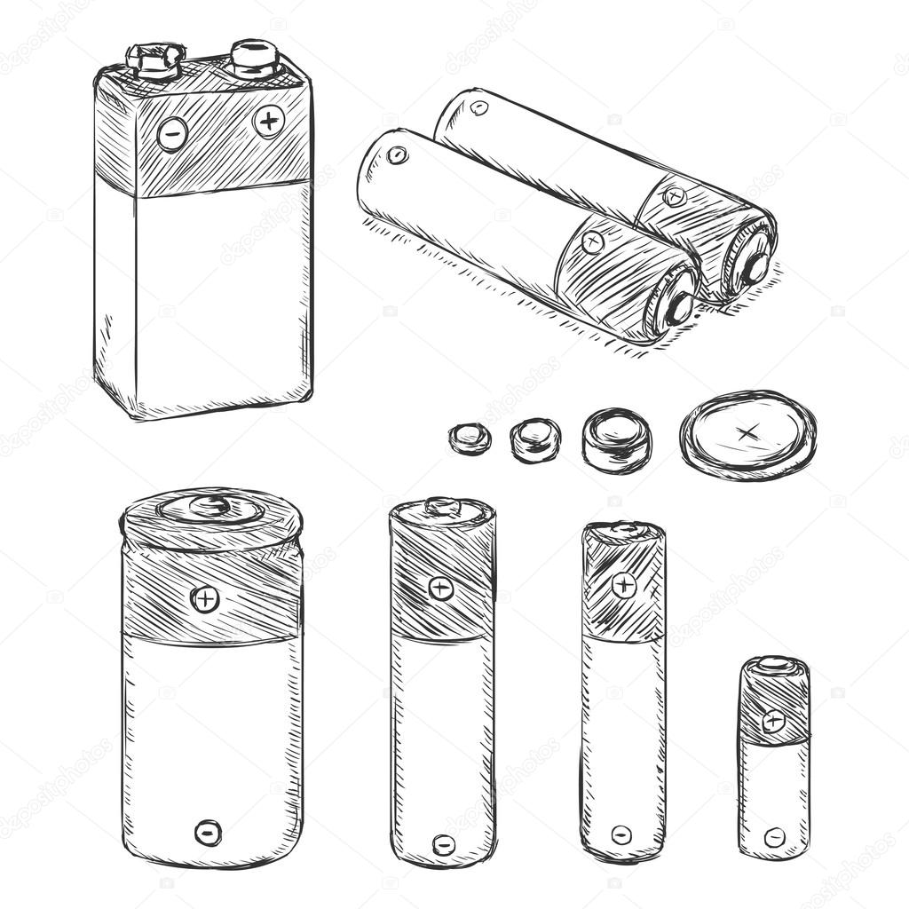 Set Of Sketch Batteries