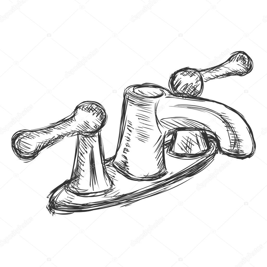 Sketch Retro Faucet — Stock Vector © nikiteev #78882728