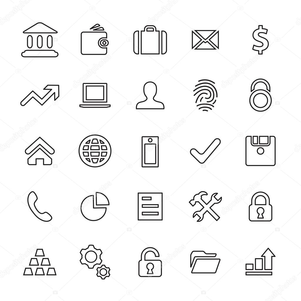 25 outline, universal bank icon — Stock Vector © rashad