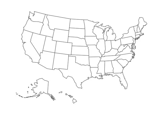 Find a free vector of united states to use in your. 52 290 Us Map Vector Vector Images Us Map Vector Illustrations Depositphotos