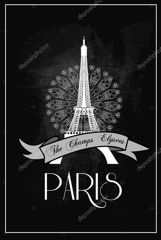 https depositphotos com 62690215 stock illustration vintage eiffel tower poster paris html