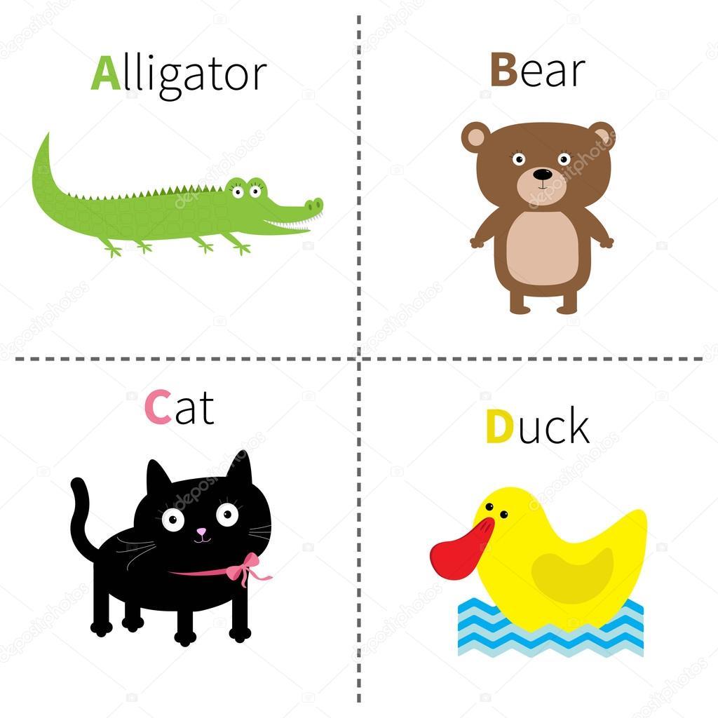 English Abc With Animals