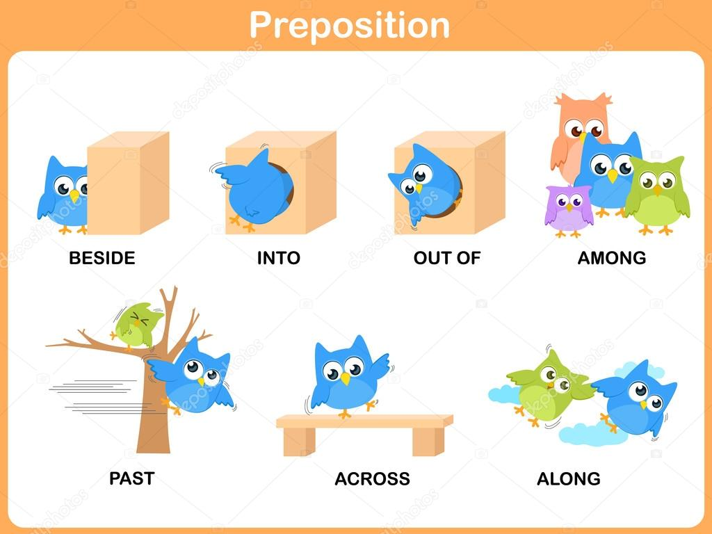 Pictures Preposition With Worksheet