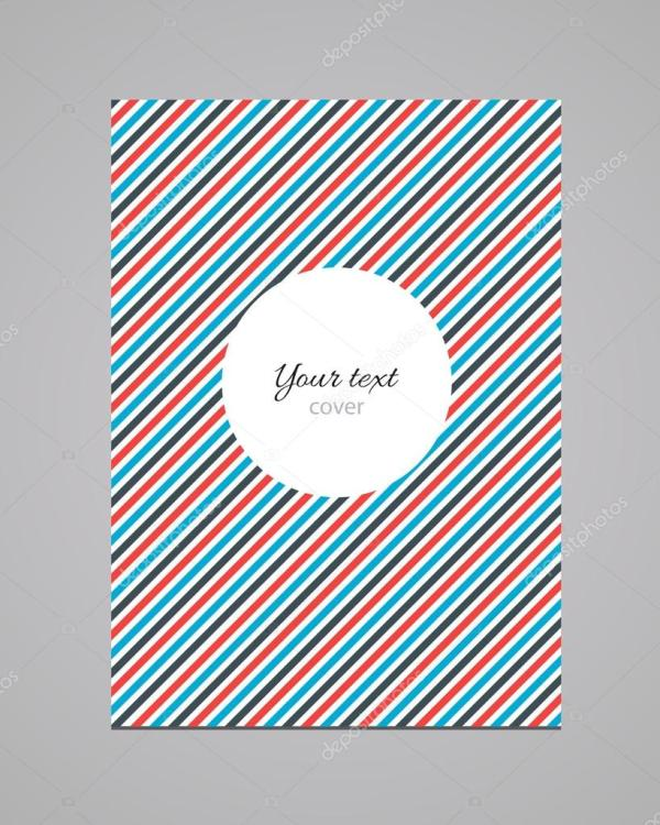 Abstract Colorful Fashion Book Cover Vector Template