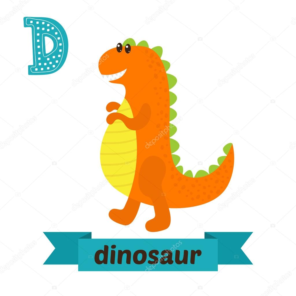Dinossauro Letra D Alfabeto Animal Bonito Das Criancas